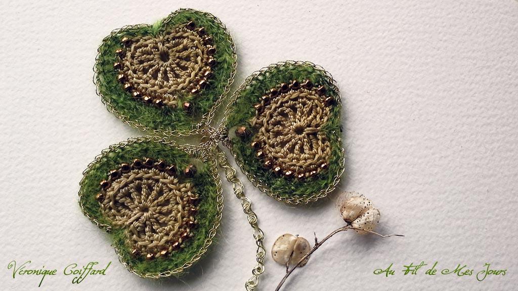 Trèfle irlandais revisité en l'honneur de la Saint-Patrick. Oui, j'aime l'Irlande !...